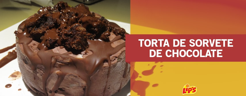 torta de sorvete de chocolate